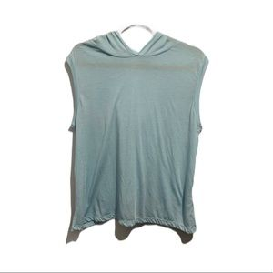 Zella Light Blue Athletic Top with Hood